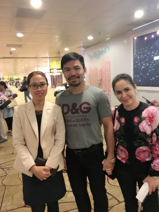 Senator Manny Paquiao & wife Jinky